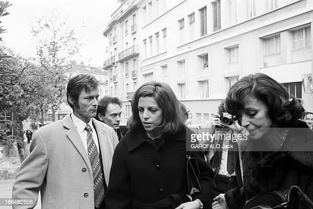 Funeral Of Tina Niarchos Lausanne 6 Octobre 1974 Les obsèques de Tina NIARCHOS épouse de Stavros NIARCHOS et mère de Christina ONASSIS celleci en...