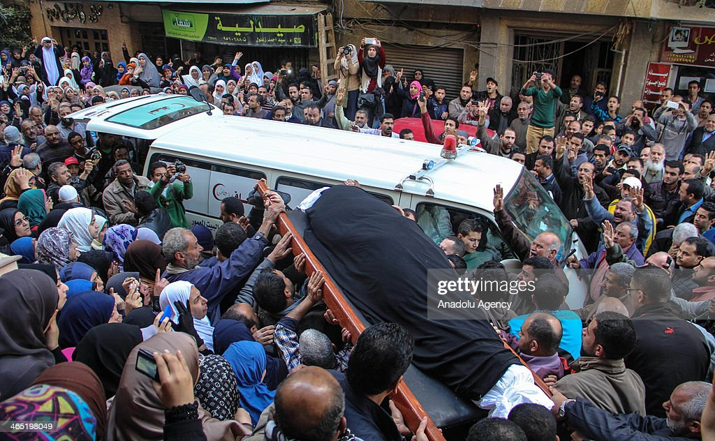 Funeral on January 26 held for Samiyya Abdullah who was killed during the demonstrations marking the 3rd anniversary of Egyptian revolution on 25 January, Alexandria, Egypt.