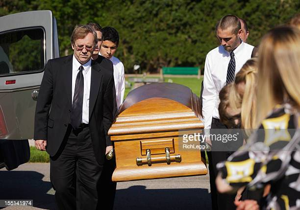 funeral pallbearers - funeral procession stock photos and pictures