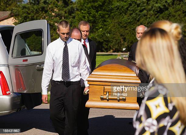 funeral pallbearers - pallbearer stock photos and pictures