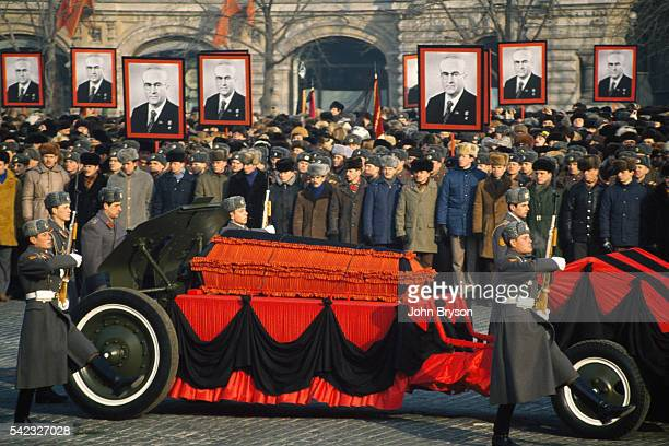 Funeral parade for General Secretary of the Communist Party of the Soviet Union Yuri Andropov at Lenin's Mausoleum
