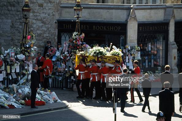 Funeral Procession And Coffin Of Princess Diana Are Followed By