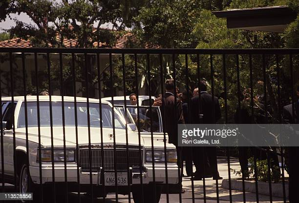 Funeral Procession during Funeral of Nicole Brown Simpson at Private Residence in Brentwood California United States
