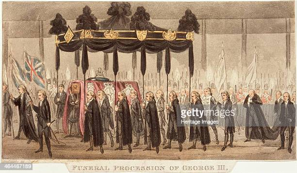 'Funeral Procession of George III' 1820 The king was deemed incapable of ruling due to bouts of madness and his son had been apointed regent ten...