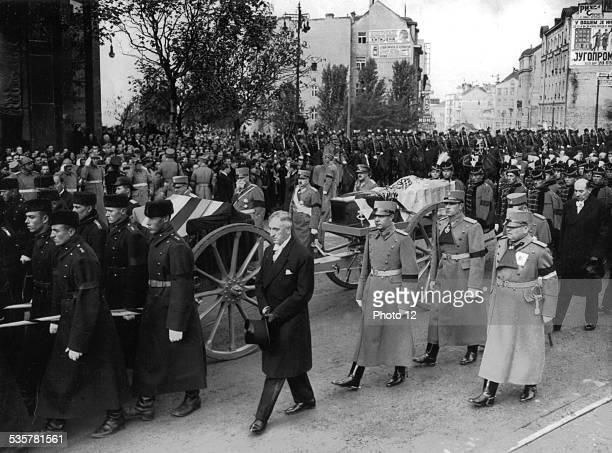 Funeral procession of King Alexander of Yugoslavia in Belgrade Oustachis October 1934 Yugoslavia National archives Washington