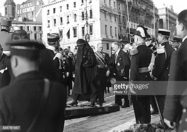 Funeral procession of King Alexander of Yugoslavia in Belgrade His widow Oustachis Assassination of Alexander of Yugoslavia October 1934 Yugoslavia...