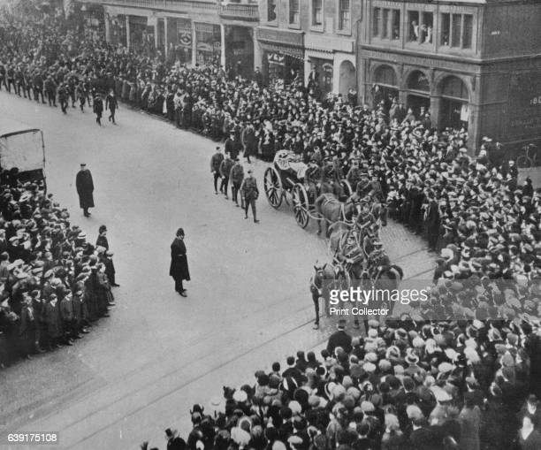 Funeral procession with full military honours of the captain of the Blucher' 1915 SMS Blucher was the last armored cruiser built by the German Empire...