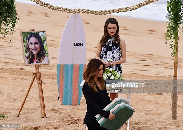 Funeral scene from Home and Away on August 29 2016 in Sydney Australia