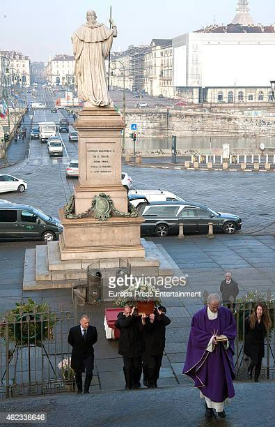 Funeral service for Princess Sandra Torlonia grand daughter of King Alfonso XIII of Spain on January 08 2015 in Turin Italy
