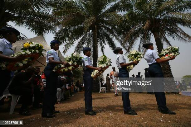Funeral service for the the remains of five officers who died in the helicopter crash in Damasak in Abuja Nigeria on January 8th 2019