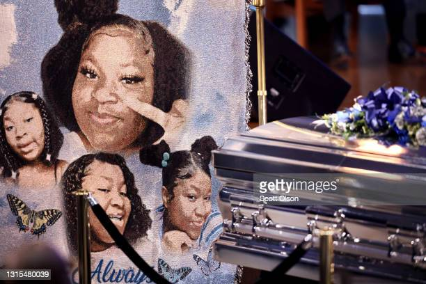 Funeral service is held for 16-year-old Ma'Khia Bryant at the First Church of God on April 30, 2021 in Columbus, Ohio. Bryant was shot and killed on...