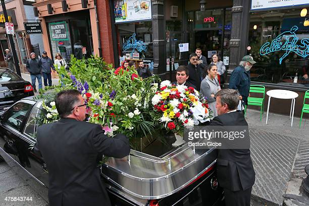 A funeral service was held for Frank Angiulo at St Leonard's Church on Hanover Street in the North End He was the last brother to die The Angiulos...