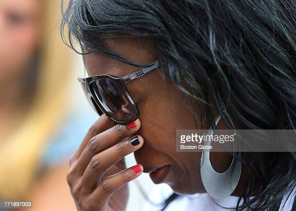 A funeral service was held for Odin Lloyd at the Holy Spirit Church in Mattapan His former babysitter Jenice Weekes cries outside the church Lloyd...