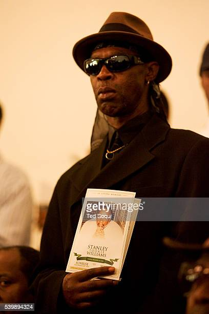 Funeral services for Stanley 'Tookie' Williams at Bethel AME Church in South Central Los Angeles Approx 2000 people attended the service which...