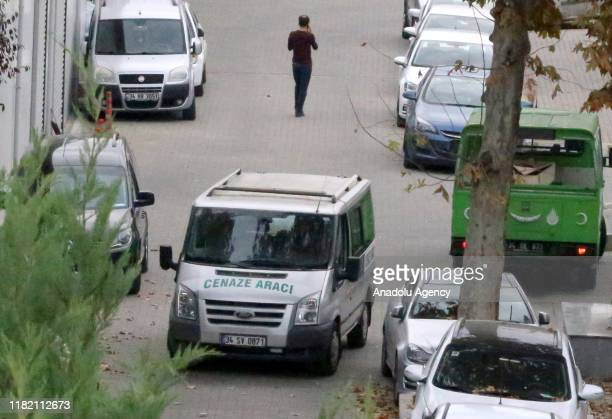 A funeral vehicle carrying the former British military intelligence officer James Gustaf Edward Le Mesurier who was found dead in Istanbuls Beyoglu...