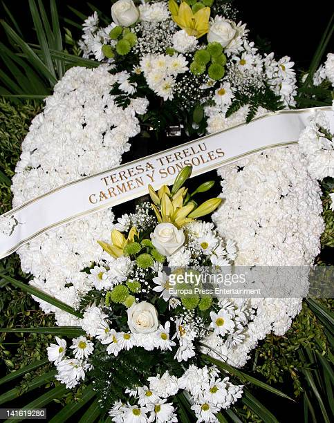 Funeral wreath for Paco Valladares on March 18 2012 in Madrid Spain