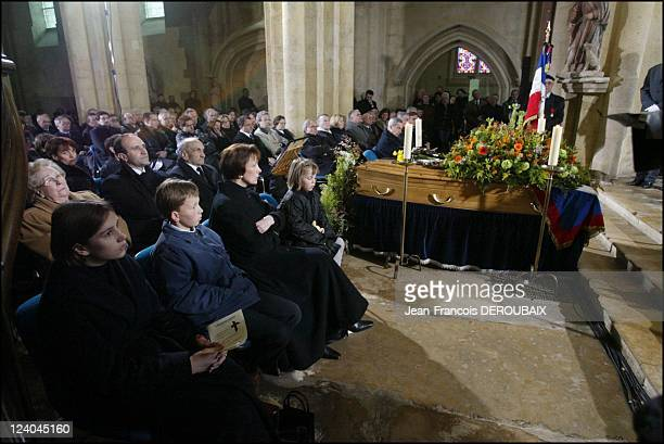Funerals of Bernard Loiseau In Saulieu France On February 28 2003 Dominique Loiseau and her children