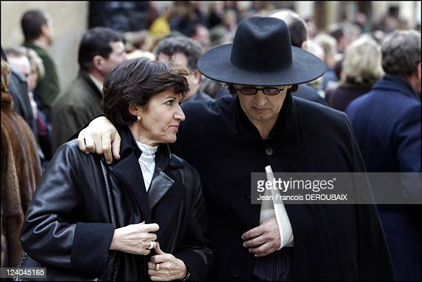 Funerals of Bernard Loiseau In Saulieu France On February 28 2003 Marc Veyrat and his wife