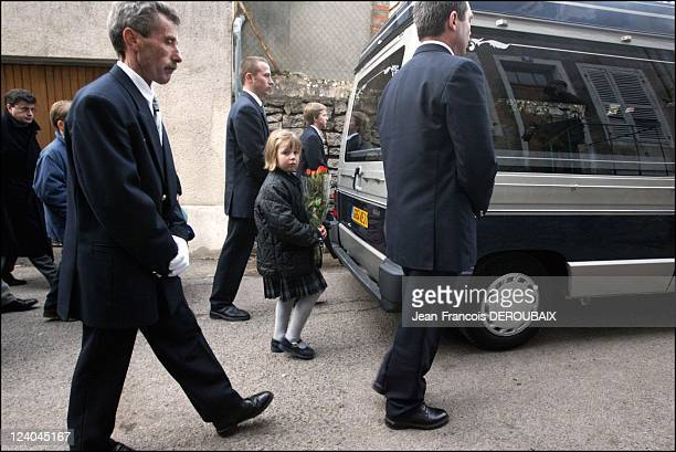 Funerals of Bernard Loiseau In Saulieu France On February 28 2003 Blanche Loiseau