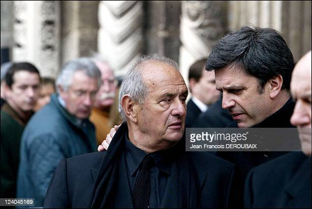 Funerals of Bernard Loiseau In Saulieu France On February 28 2003 Paul Boccuse and Patrick Chene