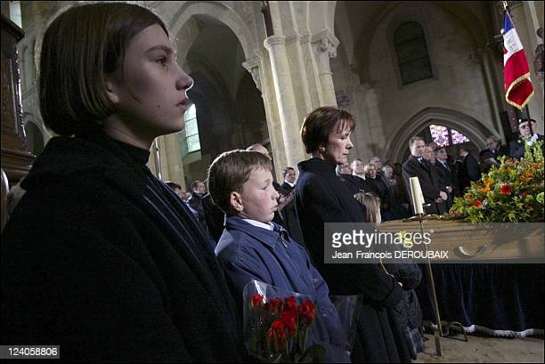 Funerals of Bernard Loiseau In Saulieu France On February 28 2003 Dominique Loiseau with her children