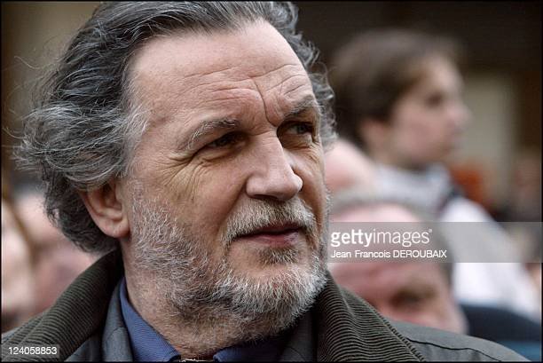 Funerals of Bernard Loiseau In Saulieu France On February 28 2003 JeanChristophe Mitterrand
