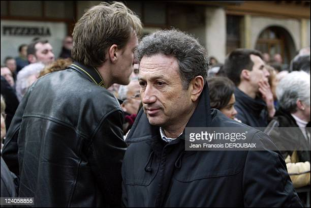 Funerals of Bernard Loiseau In Saulieu France On February 28 2003 Michel Drucker