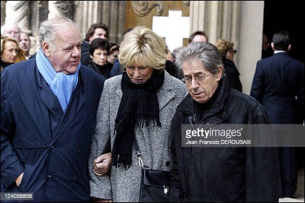 Funerals of Bernard Loiseau In Saulieu France On February 28 2003 Philippe Gildas and his wife Maryse