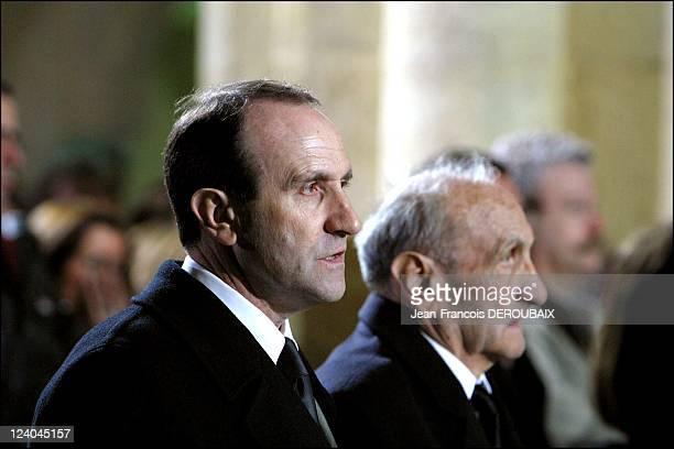 Funerals of Bernard Loiseau In Saulieu France On February 28 2003 The brother and the father of Bernard Loiseau