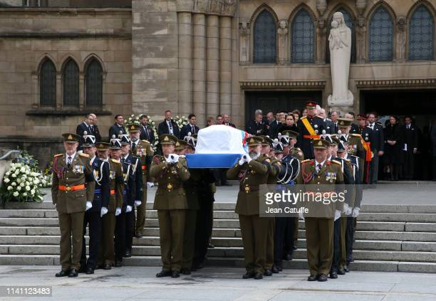 Funerals of Grand Duke Jean of Luxembourg at Cathedrale NotreDame on May 4 2019 in Luxembourg Luxembourg