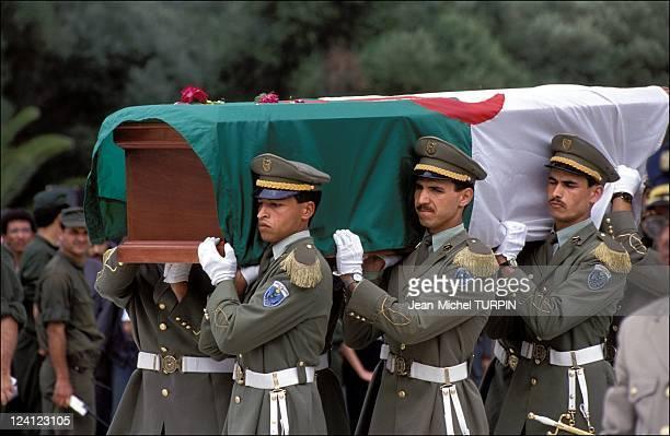Funerals of Mohamed Boudiaf in Algiers Algeria on July 011992