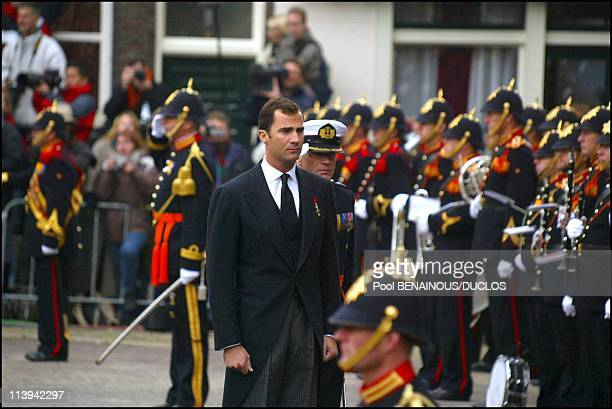 Funerals of Prince Claus of Netherlands in Delft, Netherlands On October 15, 2002-Prince Felipe of Spain.