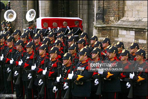 Funerals of Prince Claus of Netherlands in Delft, Netherlands On October 15, 2002-Funerals of Prince Claus of Netherlands in Delft.