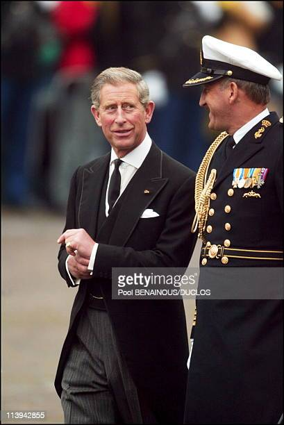 Funerals of Prince Claus of Netherlands in Delft, Netherlands On October 15, 2002-Prince Charles.
