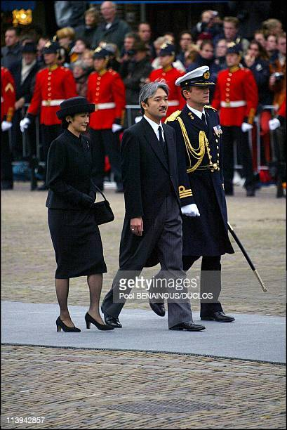 Funerals of Prince Claus of Netherlands in Delft, Netherlands On October 15, 2002-Prince Akishino.
