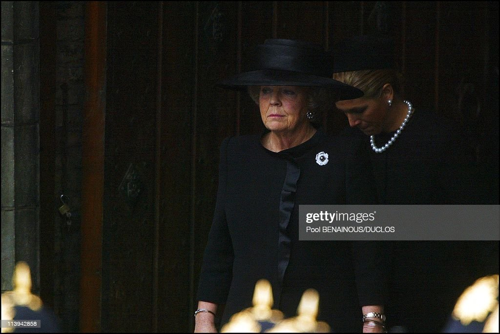 Funerals of Prince Claus of Netherlands in Delft, Netherlands On October 15, 2002- : News Photo