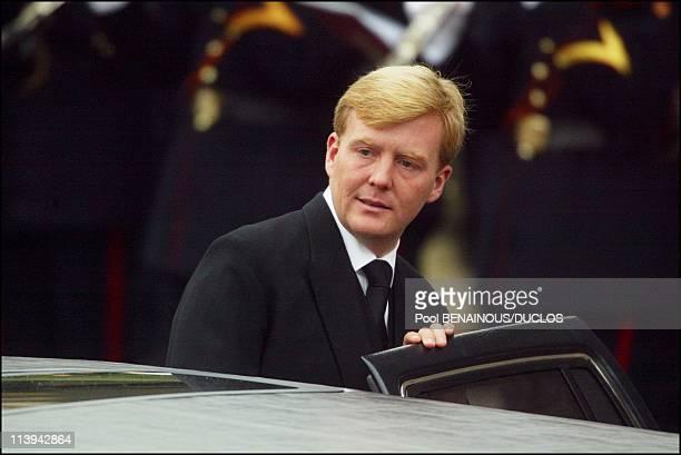 Funerals of Prince Claus of Netherlands in Delft, Netherlands On October 15, 2002-Prince Willem Alexander.