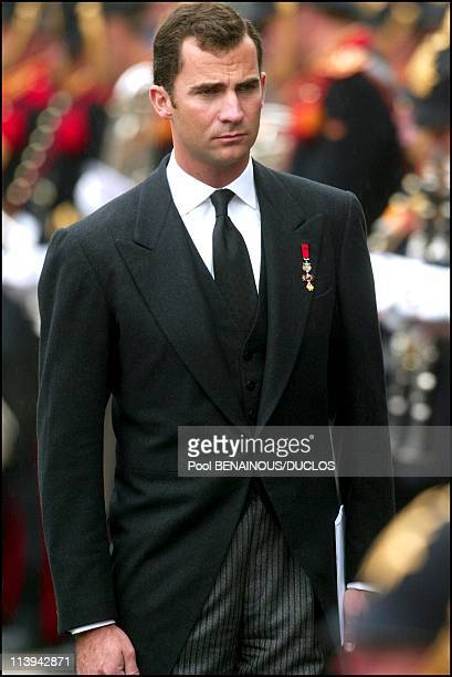Funerals of Prince Claus of Netherlands in Delft Netherlands On October 15 2002Prince Felipe