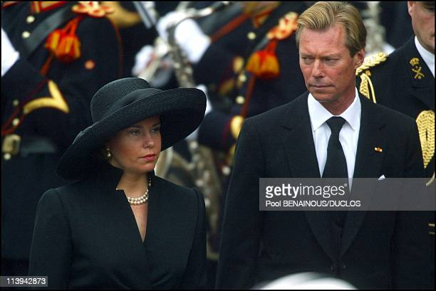 Funerals of Prince Claus of Netherlands in Delft Netherlands On October 15 2002Grand Duke Henri and wife Maria Teresa