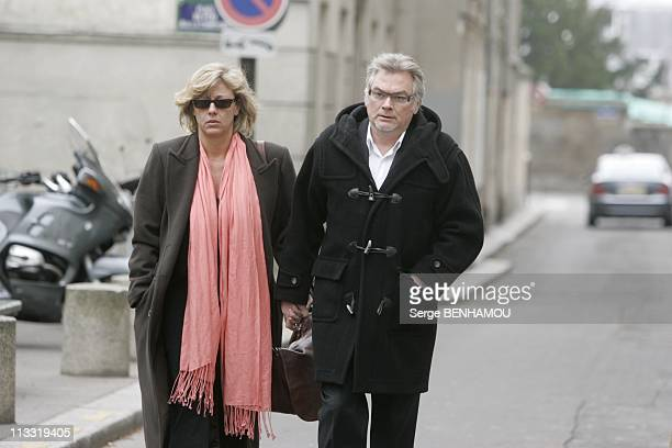 Funerals Of The Comedian Daniel Rialet At The Church Notre Dame De Grace De Passy In Paris On April 18Th 2006 In Paris France Here Christian Rauth...