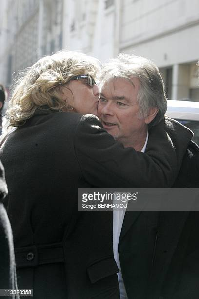 Funerals Of The Comedian Daniel Rialet At The Church Notre Dame De Grace De Passy In Paris On April 18Th 2006 In Paris France Here Cecile Auclert And...