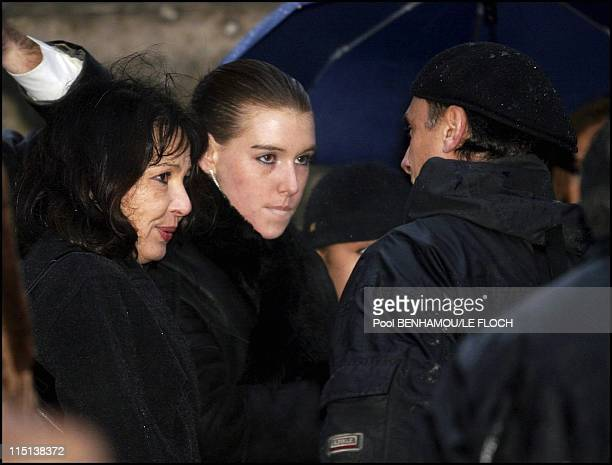 Funerals of Ticky Holgado in Paris, France on January 26, 2004 - Mrs Holgado and her daughter.