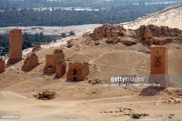 funerary monuments of palmyra syria documented before their destruction by the islamic state - looting stock pictures, royalty-free photos & images