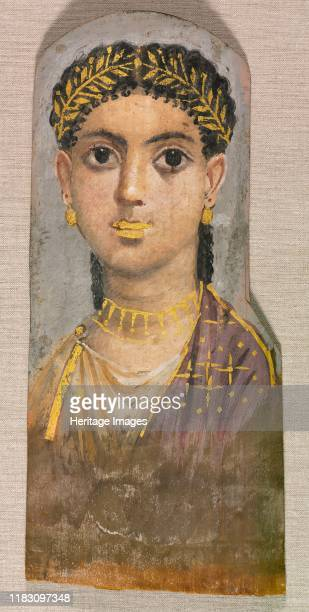Funerary Portrait of a Young Girl c AD 2537 Traditional Egyptian burial practices continued well into Roman times These lifelike portraits were made...