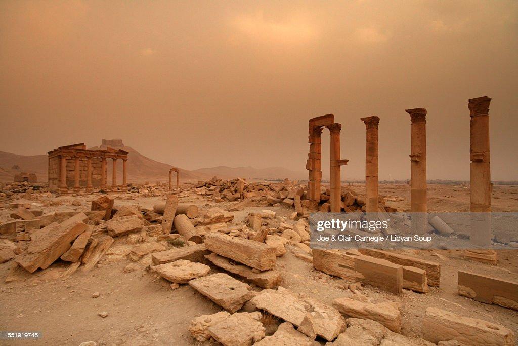 Funerary Temple at Palmyra, Syria : Stock Photo