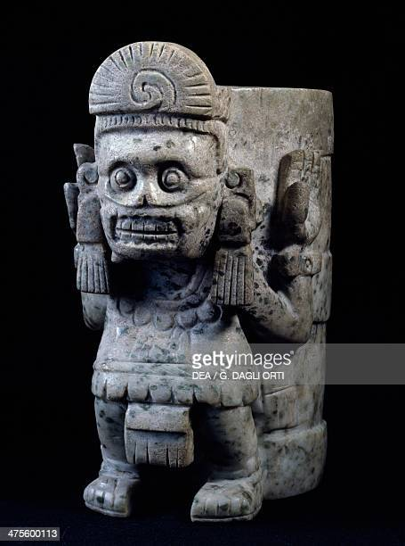 Funerary urn with a relief depicting the god Mictlantecuhtli Mexico Aztec civilisation 14th16th century Mexico City Museo Del Templo Mayor