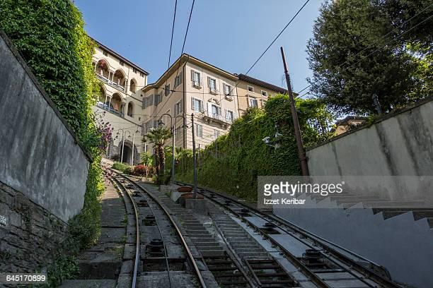 Funicular to  Citta Alta Old town, Bergamo, Italy