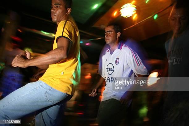 Funk dance hall in Rio das Pedras shantytown in Rio de Janeiro Brazil June 9 2006 Like Brazil's trademark genre samba in its early days funk is the...
