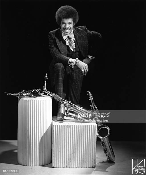Funk musician Jimmy Castor poses for a portrait session with his saxophone in circa 1972 in New York City New York