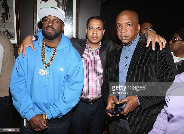 Funkmaster Flex Johnny Nunez and Ralph McDaniels attend the Inspired In Music event Honoring Johnny Nunez Ralph McDaniels Funkmaster Flex at Katra...